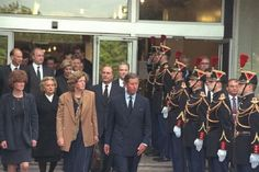 Prince Charles & Diana's sisters, Jane and Sarah in Paris to bring Diana's body home.