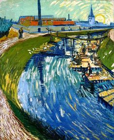 "fleurdulys: "" Canal with Women Washing - Vincent van Gogh 1888 """
