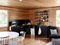 Marimekko, Log Homes, Cottage, Table, House, Furniture, Home Decor, Summer, Spaces