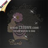 Curls Lady Bling Custom Hotfix Rhinestone Transfer Templates