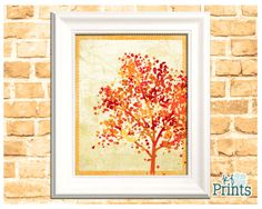 I made this autumn tree silhouette because fall trees with their colorful leaves are one of my favorite things about fall. Bring the beauty of autumn trees into your home with this beautiful fall decor print that would look perfect with your harvest decorations and would be a great Thanksgiving hostess gift. Featuring a backdrop of red, yellow, and orange leaves, this tree with its border and textured tan background would look great inside or outside of a frame. Bring the love of fall into…