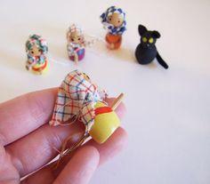 Swedish Witches Folk Set // Set of four little por tiendanordica