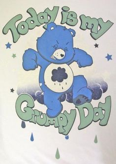 Worn - Care Bears Today Is My Grumpy Day White 100% Soft Cotton Ladies Slim Fit T-shirt - Just Love My T-Shirt