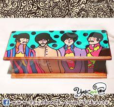 The Beatles Yellow Submarine handmade  box Caja Mágica Pintada a Mano www.facebok.com/Yakarte