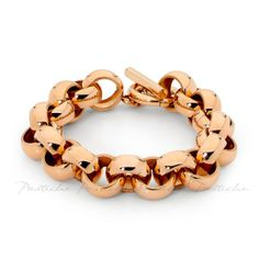 Nationwide Jewellers. Pastiche Steel Bracelet. Rose Gold Tone. Classic Curb.  Loving this.