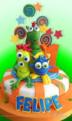 .niños 1st Birthday Boy Themes, Monster Birthday Parties, Boy First Birthday, Little Monster Party, Gateaux Cake, Halloween Birthday, Cakes For Boys, First Birthdays, Cupcake Cakes
