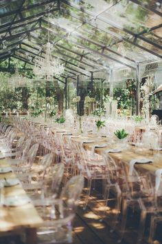 Glass Marquee Reception | Fiona Clair Photography on @SouthBoundBride via @aislesociety