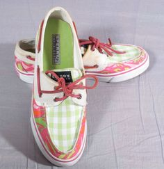 Women's Sperry Top-sider Boat Shoes Multi-color Size 7 M Canvas Low #SperryTopSider #BoatShoes