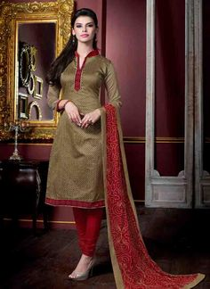 Beige Color Un-Stitched Designer Salwar Kameez - Rs. 1000.00