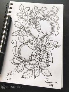 #floral #flower #ink #drawing #doodle #coloring