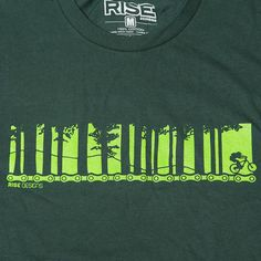 Tahoe Mountain Bike - T-Shirt - Mens - Forest Green – RISE Designs