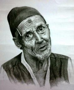 Wrinkles of hard work - Sketching by का लू in CH@RCO@L at touchtalent