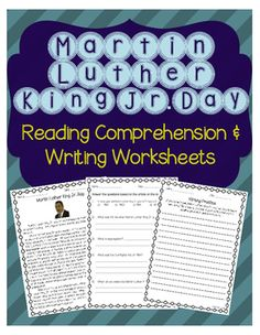 This is a reading comprehension passage about Martin Luther King Jr. Day. It includes a short background about Martin Luther King Jr. and why Martin Luther King Jr. Day is celebrated. The passage is accompanied by a Martin Luther King Jr. Day comprehension worksheet (multiple choice and short answer) and a Martin Luther King Jr.