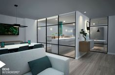 Salón, comedor y cocina en una única estancia. | Decoración de interiores en Valencia