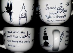 Sharpie Marker Mug. Baked at 350* for 30 min.  Peter Pan was my inspiration. :)