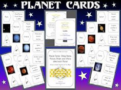 FREE Planet Cards ~ Group together Name, Pic, Position, and 3 Facts about each Planet.