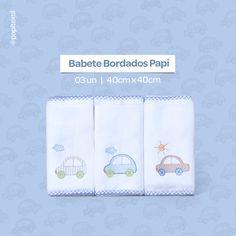 Babete Bordados Papi  03 unidades  40cm x 40cm  Picueta dos 04 lados    Acesse o site  www.lojapapi.com.br, procure pelo código 1524 e conheça mais opções de cores e bordados!      #babete #carrinhos #azulbebe #enxovaldebebe #lojapapi #papitextil #bebe #baby #conforto #mamae