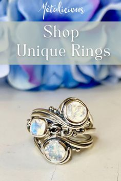 Moon Jewelry, I Love Jewelry, Sterling Silver Jewelry, Jewelry Design, Silver Rings, Fine Jewelry, Handmade Engagement Rings, Shop Engagement Rings, Alternative Engagement Rings