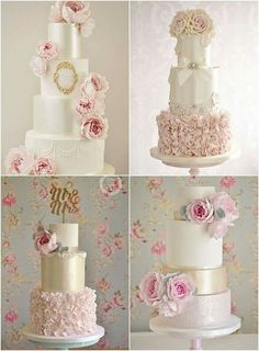 A very romantic and delicate wedding cakes.