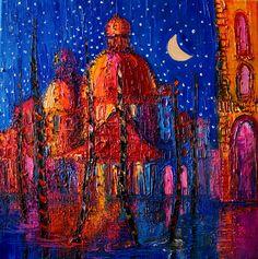 "Saatchi Online Artist: Justyna Kopania; Oil, 2013, Painting ""Night"""