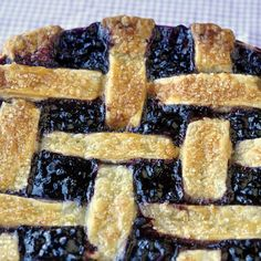 The Best Blueberry Pie - a real old-fashioned Blueberry Pie recipe that would make a wonderful seasonal addition to your Thanksgiving dinner menu.
