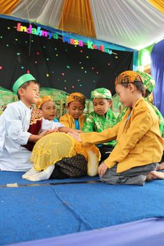 "Play traditional game ""Cublek - cublek Suweng"". One of traditional Indonesia""s games."