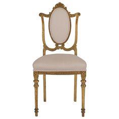 Giltwood Ballroom Chair | 1stdibs.com