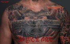 samurai tattoo on chest# ronin tattoo