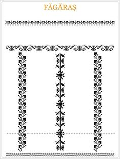 ie de Fagaras Medieval Embroidery, Embroidery Motifs, Diy Embroidery, Embroidery Designs, Blackwork Patterns, Textile Patterns, Beading Patterns, Cross Stitch Patterns, Cross Stitch Borders