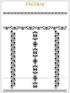 ie de Fagaras Blackwork Patterns, Textile Patterns, Beading Patterns, Cross Stitch Patterns, Crochet Patterns, Medieval Embroidery, Folk Embroidery, Embroidery Patterns, Cross Stitch Borders