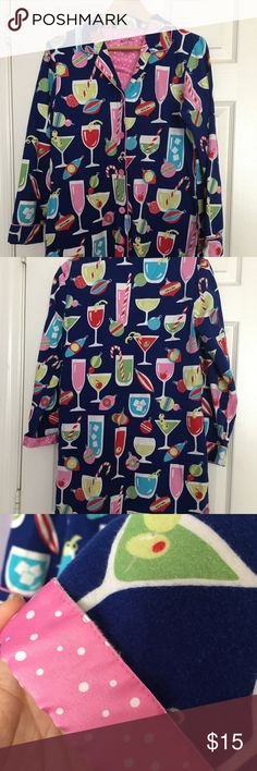 Nick and Nora long sleeve pajamas Long sleeve size Small Nick and Nora pajamas. Perfect for upcoming holiday season. Sleeve can be cuffed to show pink with white polka dots. Also has pockets on side. Nick & Nora Intimates & Sleepwear Pajamas