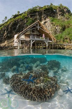 Top 10 Beautiful Houses on the Water, Misool eco resort Indonesia