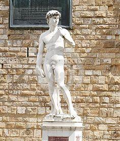 David statue by Luigi Arrighetti in Piazza della Signoria, Florence, Italy, Europe