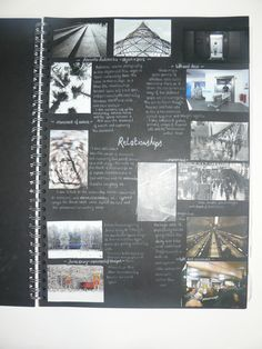AS Photography, A3 Black Sketchbook, Brainstorm, ESA Theme Relationships, Thomas Rotherham College, 2014-15 #RePin by AT Social Media Marketing - Pinterest Marketing Specialists ATSocialMedia.co.uk
