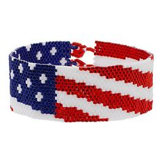 Spangled Banner Bracelet | Fusion Beads has beads to order and instructions to download.