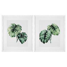 Eichholtz Modern Classic Set of 2 Tropical Plants Framed Wall Art Prints Green Wall Art, Leaf Wall Art, Framed Wall Art, Art Prints For Home, Wall Art Prints, Framed Prints, Plant Wall Decor, Wall Art Decor, Plant Art