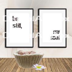 Be Still Printable Be Still Wall Art Be still Wall by DigitalArtBox Choose what you love