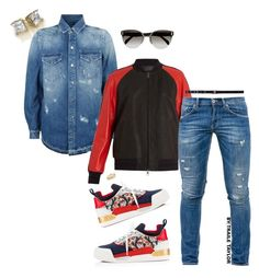 """""""COME WITH IT!💯"""" by traile-anthony-taylor ❤ liked on Polyvore featuring Christian Louboutin, Marcelo Burlon, Neil Barrett, Dondup, Prada, David Yurman, Alyx, men's fashion and menswear"""