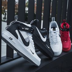 Two new colorways of the Nike Air Force 1  07 LV8 Utility (EU 40 - 47 d53b5e81a