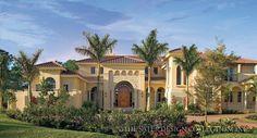 "Sater Design's ""Cordillera"" l Spanish Colonial Home Plans"