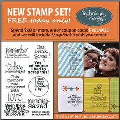Celebrate National Scrapbook Day 2014 with TechniqueTuesday.com. We've just released a new stamp called Scrapbook It. Here's a special offer good on May 3rd, 2014, until midnight PST.