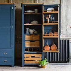 Outdoor Dining Furniture, Blue Furniture, Retro Furniture, Kitchen Furniture, Painted Furniture, Furniture Design, Pantry Cupboard, Larder, Furniture Makeover