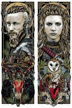 FAMP Art has teamed up with artist Rhys Cooper for another amazing print for the hit TV series 'Vikings', now focusing on the beautiful and fierce Lagertha. Ragnar Lothbrok Vikings, Vikings Show, Vikings Tv Series, Rhys Cooper, Viking Wallpaper, Witcher Wallpaper, Arte Game Of Thrones, Viking Series, Shield Maiden