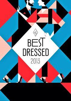 Vanity Fair, France, Malika Favre - Best Dressed 2013  #geometric #patterns #design