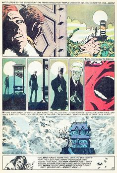 """Tower of Shadows n°1 (""""At the Stroke of Midnight!"""" - september 1969). Art & words by Jim Steranko."""