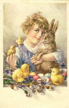 Pela Páscoa, há pintaínhos, coelhos novos, cordeirinhos e ouvem-se muitos passarinhos a cantar.