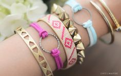 DIY | CIRCLE SUEDE BRACELETS WITH WWDMAGIC