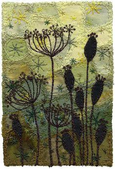 Seedpods 5 by Kirsten's Fabric Art