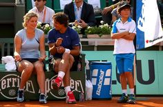 Rafa and Kim Clijsters. Latter left the circuit at the US Open, August 2012.