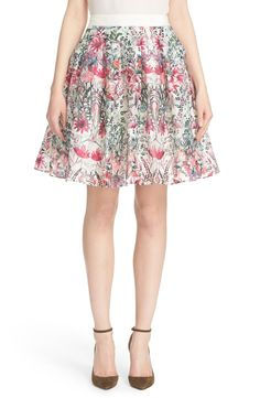 Ted Baker London 'Sadah' Floral Print A-Line Skirt